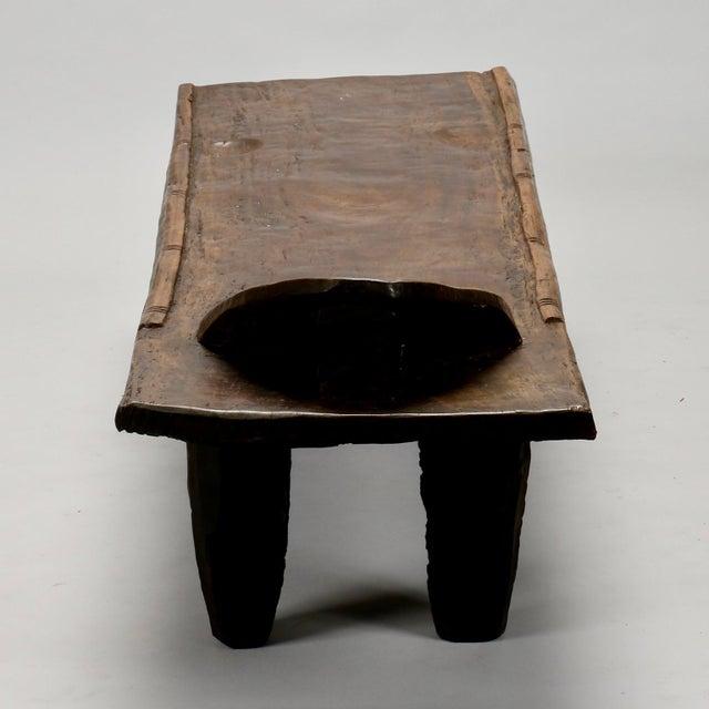 Ivory Coast Dark Wood Senufo Bench - Image 8 of 11