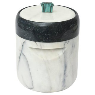 Mid-Century Georges Briard Marble and Bronze Ice Bucket