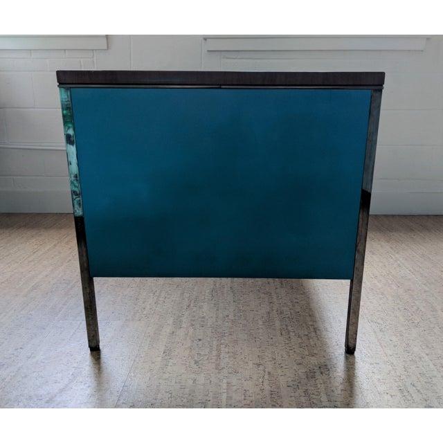 Industrial Teal Steelcase Tanker Desk For Sale - Image 3 of 9