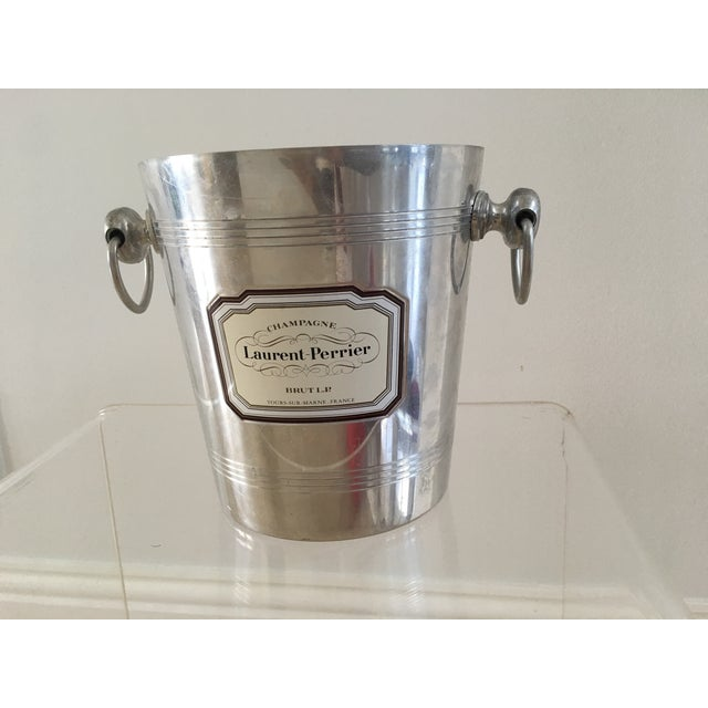 French 1960s Vintage French Silver Champagne Bucket For Sale - Image 3 of 3