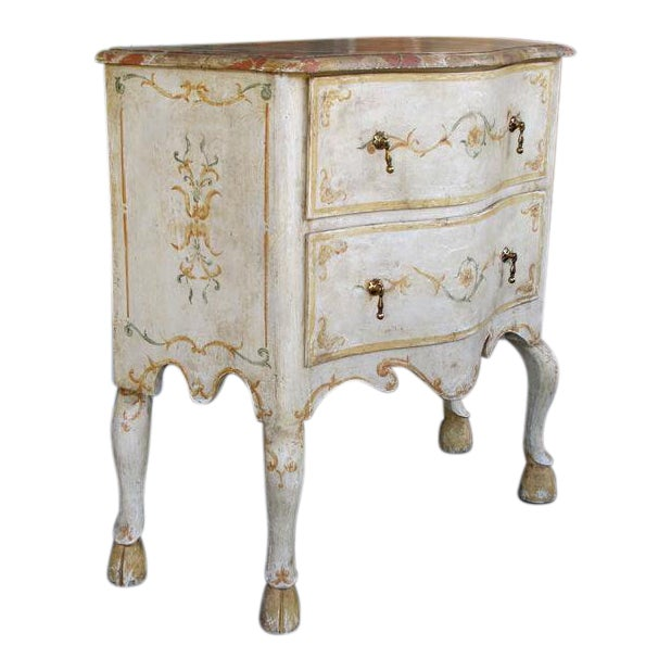 A Curvaceous Pair of Portuguese Rococo Style 2-Drawer Commodes - Image 1 of 6