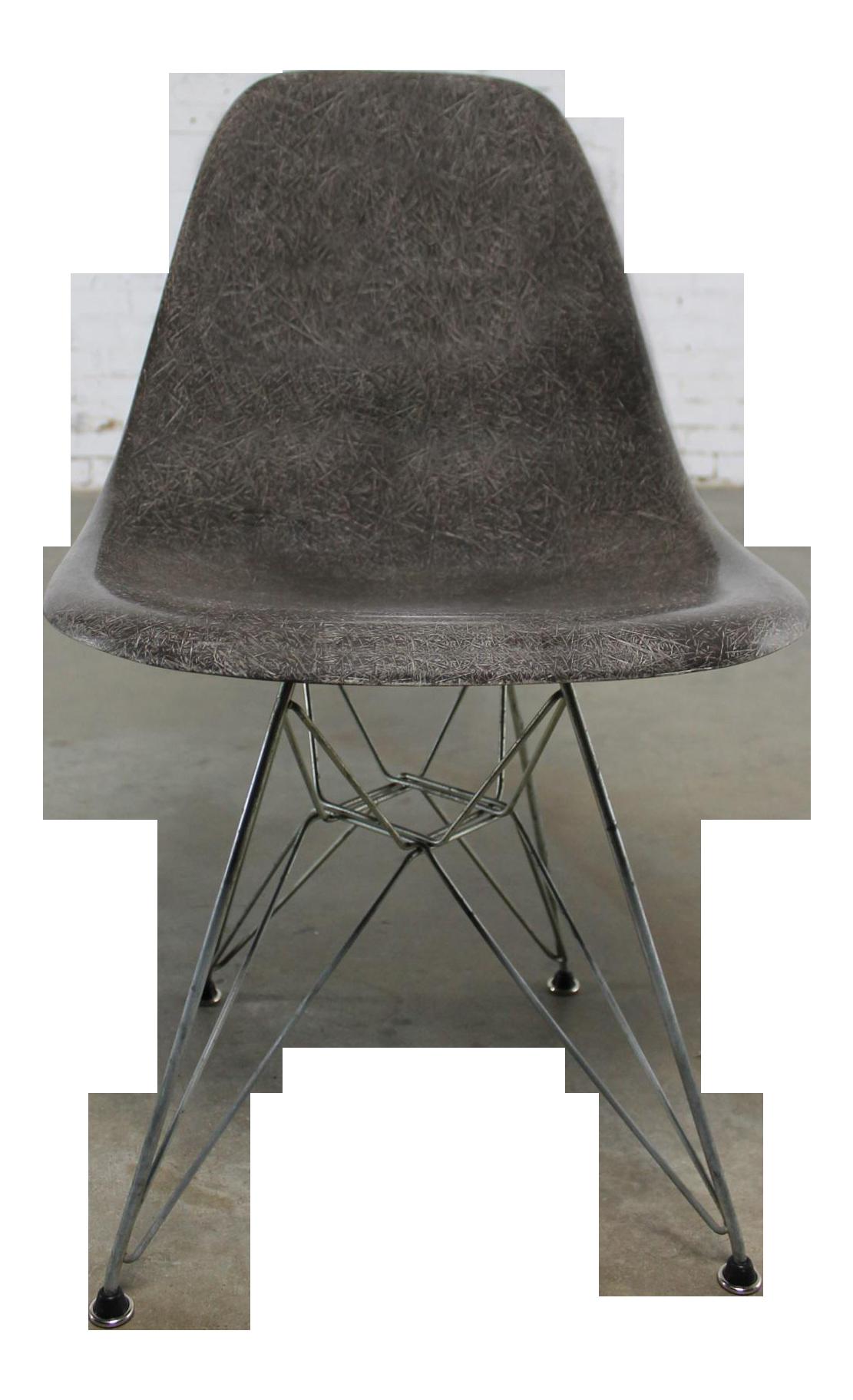 Vintage Mid Century Modern Gray Herman Miller Eames DSR Chair