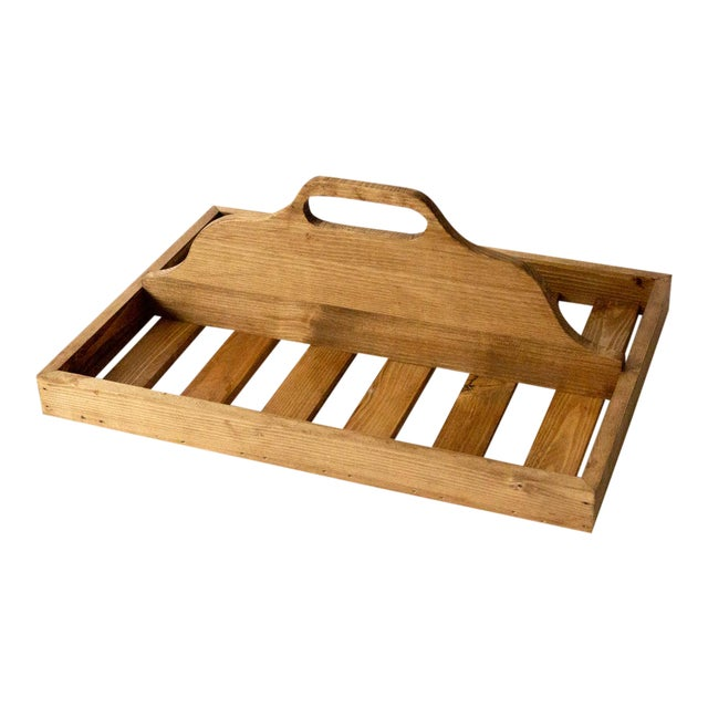 Vintage Wooden Berry Carrier For Sale