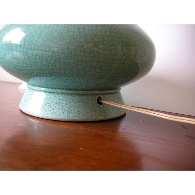 Vintage Mid-Century Modern Turquoise Table Lamp - Image 5 of 7
