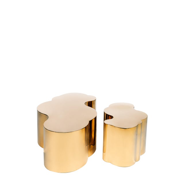 Luca Coffee Table in Gold For Sale - Image 4 of 7