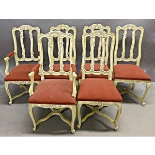 French Country Provincial Louis XV Style Dining Chairs - Set of 6 Preview