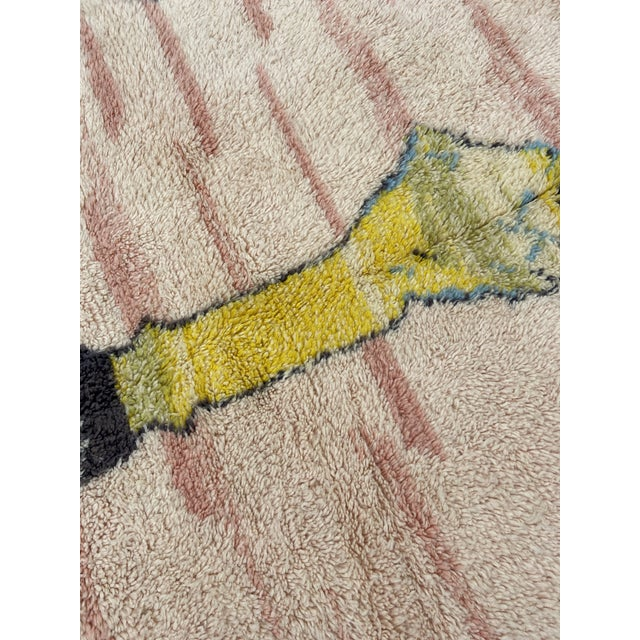Moroccan Pink Wool Rug For Sale - Image 6 of 7