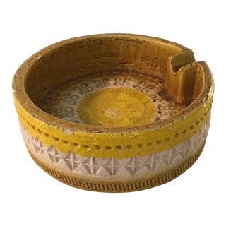 Yellow Bitossi Pottery Ashtray