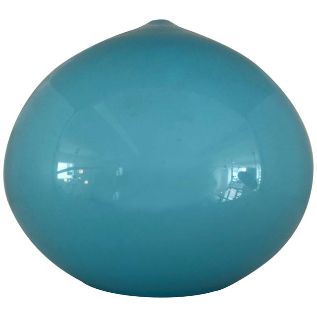 Gino Vistosi Blue Glass Pendant by Vistosi For Sale - Image 4 of 4