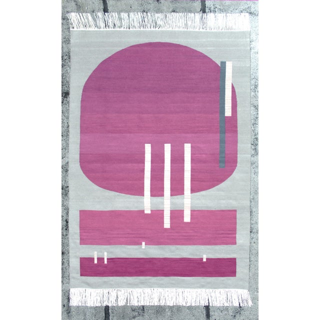 Andrew Boos Handwoven Wool Rug For Sale - Image 13 of 13