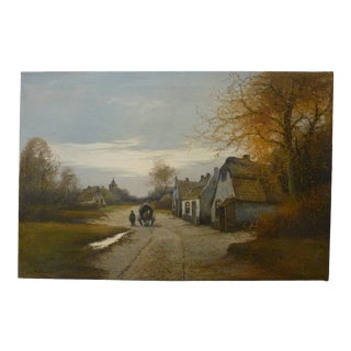 Early 20th Century Antique Dutch Painting For Sale