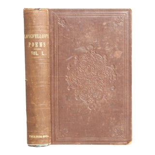 """1856 """"Longfellow Poems: Volume One"""" For Sale"""