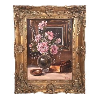 Still Life Roses Oil Painting For Sale