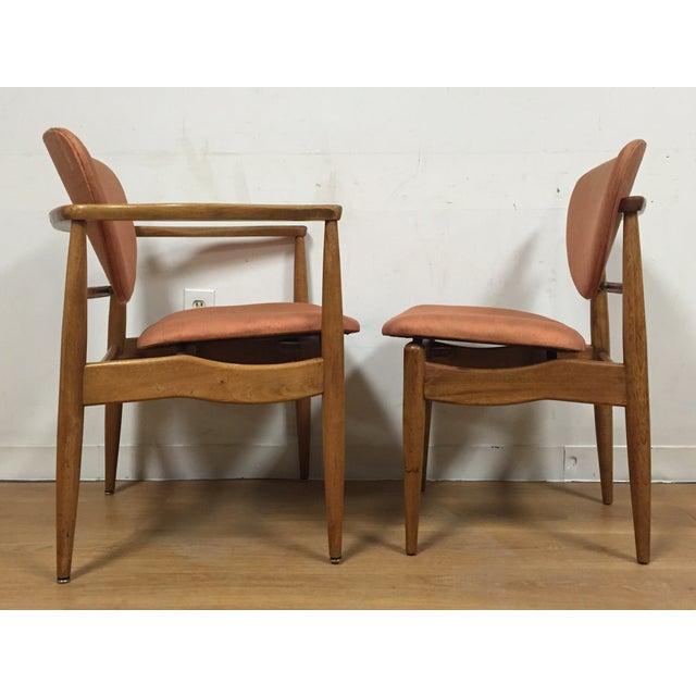 John Stuart Finn Juhl Style Dining Chairs - Set of 6 For Sale - Image 4 of 11