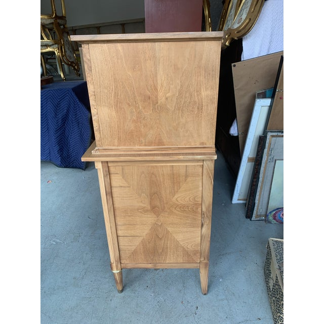 Mid-Century Burled Wood Highboy Dresser For Sale In Los Angeles - Image 6 of 13