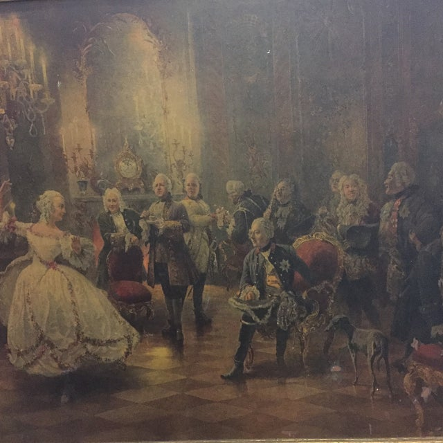Georg Schobel French Court Painting For Sale - Image 4 of 8
