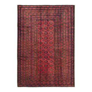 "Vintage Tribal Afghan Rug, 6'6' X 9'2"" For Sale"