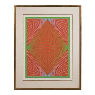 "Richard Anuszkiewicz ""Diamond Chroma"" Screenprint in Colors, 1965 For Sale"