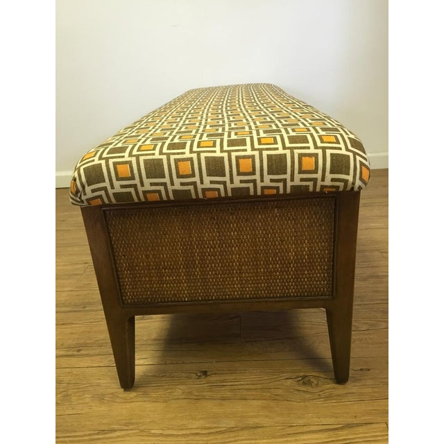 Mid Century Modern Upcycled Bench - Image 3 of 5