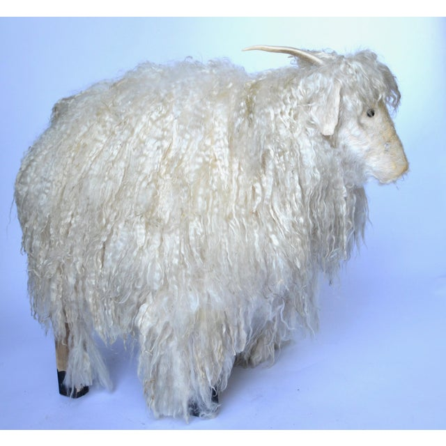 1970s Angora Horned Sheep Ottoman in Claude Lalanne Style For Sale In Los Angeles - Image 6 of 6