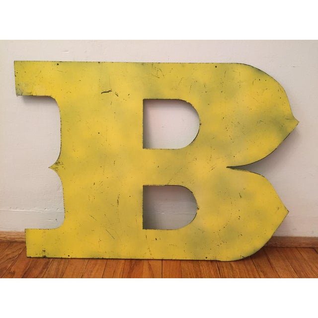 Metal Letter B Sign - Image 2 of 3