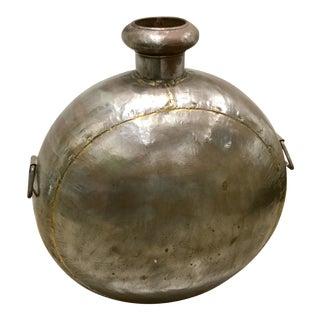 Large Metal Floor Vase For Sale