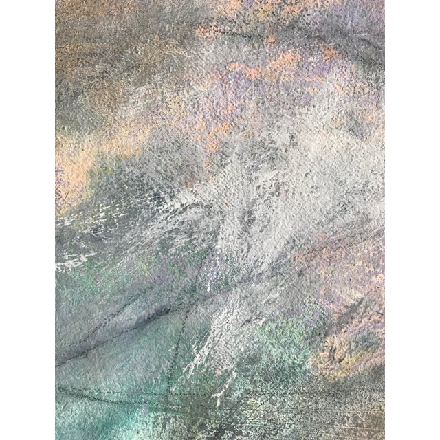 """1980s Abstract Painting With Pencil Female Bay Area Artist """"Ashland Ducks Xvii"""" For Sale In New York - Image 6 of 7"""