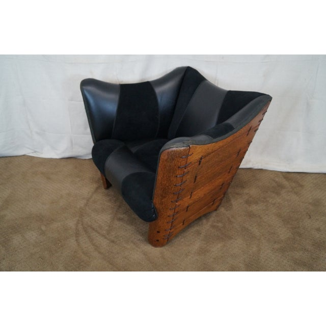 Brazilian Walnut Wing Lounge Chair - Image 9 of 10