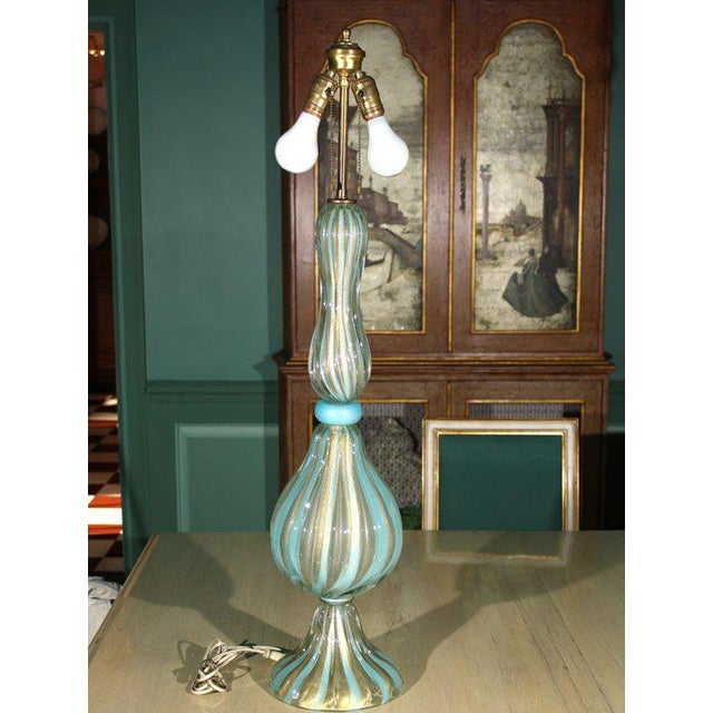 1950s 1950s Vintage Venetian Murano Glass Lamp For Sale - Image 5 of 31