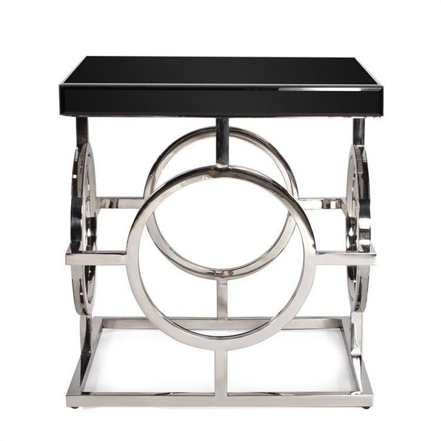 Kenneth Ludwig Chicago Kenneth Ludwig Stainless Steel Circle Table For Sale - Image 4 of 4