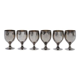 Silverplate Apéritif Glasses - Set of 6 For Sale