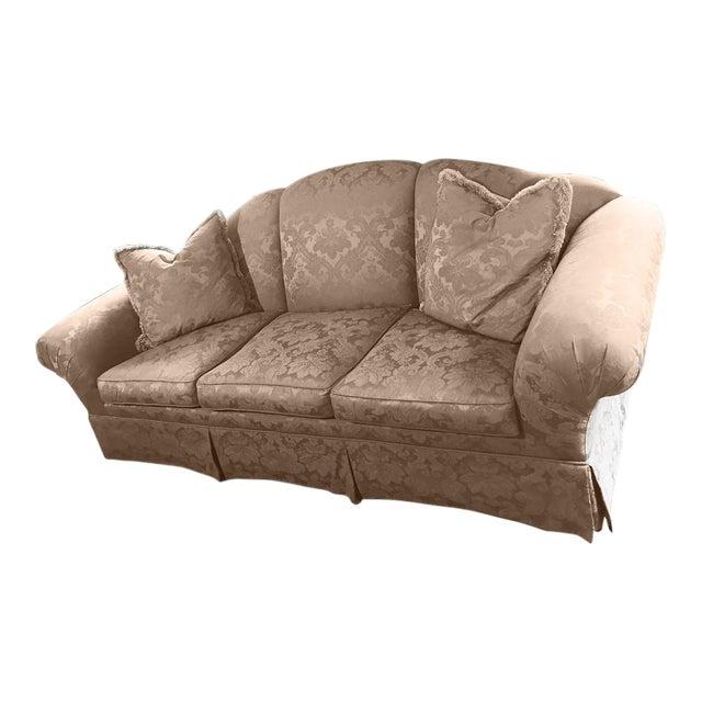 Silk Damask Summer Hill Ltd. Hamilton Sofa For Sale
