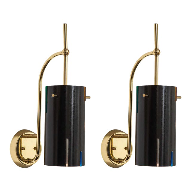 Mid-Century Italian Wall Sconces - a Pair For Sale