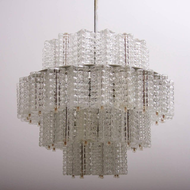 1960s One of six Huge and Rare Glass Chandeliers by Austrolux For Sale - Image 5 of 8