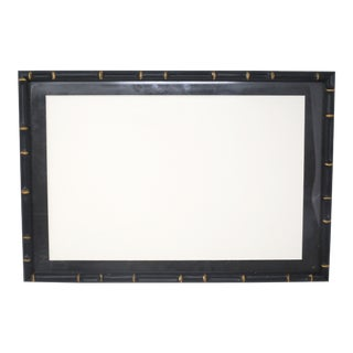 Vintage Black and Gold Faux Bamboo Picture Frame For Sale