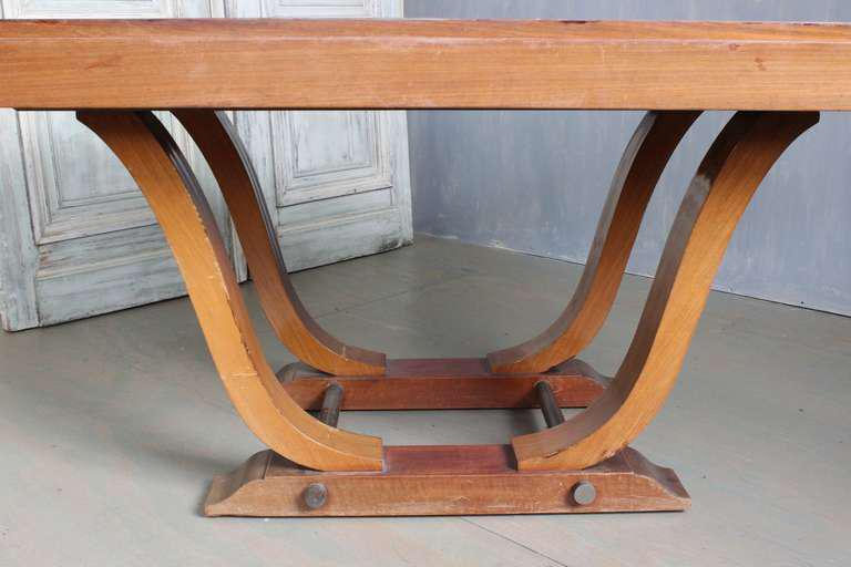 French 1940s Art Deco Style Rosewood Dining Table   Image 2 Of 9