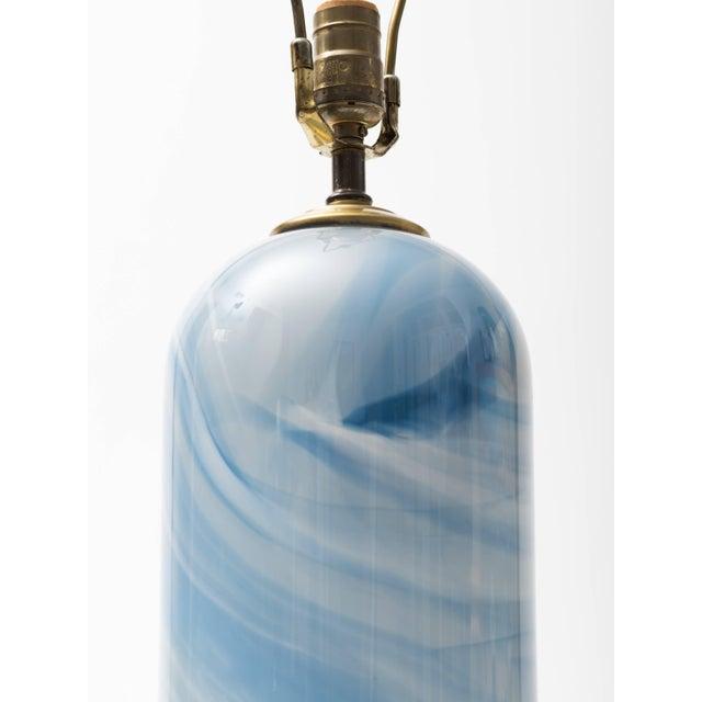 Mid-Century Modern 1980s Celestial Swirl Hand Blown Glass Column Lamp For Sale - Image 3 of 8