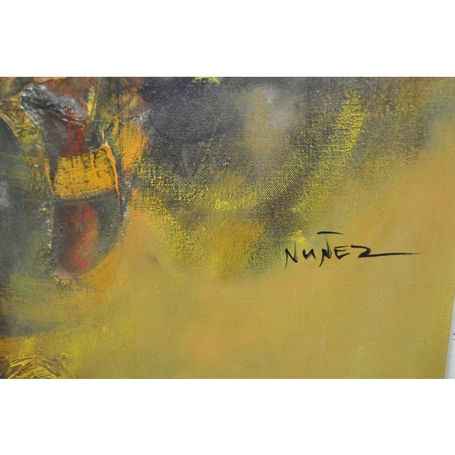 Guillermo Nunez (Mexico) Vintage Abstract C.1960 - Image 4 of 5