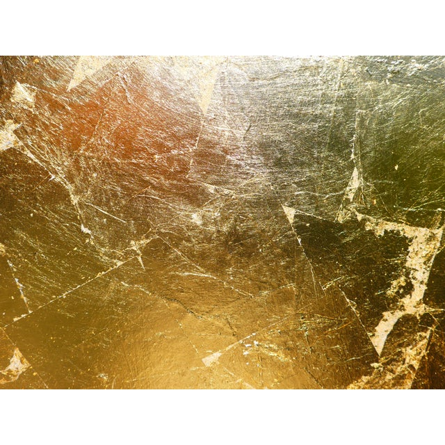 """Monumental, Contemporary """"Gold"""" Gold Leaf Canvas by Martha Holden For Sale In Los Angeles - Image 6 of 9"""