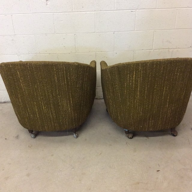 Green Richardson Nemschoff Horshoe Shaped Chairs - a Pair For Sale - Image 8 of 13