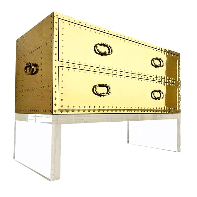 Sarreid Gold Bedside Chest - Image 1 of 6