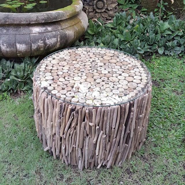 Super Round Driftwood Coffee Table Chairish Uwap Interior Chair Design Uwaporg