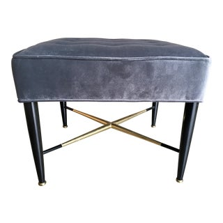 1950s Vintage Tufted Ottoman For Sale