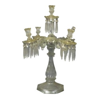 Early 1900s Era French Crystal Candleabra For Sale