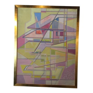 Angular Abstract Painting by Thomas Eldred For Sale