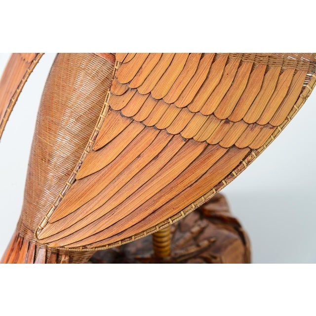 Wicker Vintage Chinese Woven Wicker Cormorant Box For Sale - Image 7 of 13