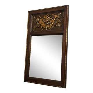 Century Furniture Wall Mirror with Ornate Carvings For Sale