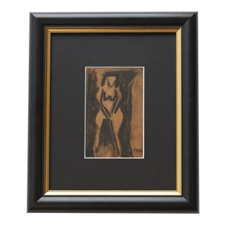 Late 20th Century Perra Abstract Drawing For Sale