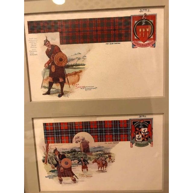 Brown Set of 12 Custom Finely Framed Scottish Postcards, Vintage Catherine Reiss Inc For Sale - Image 8 of 11