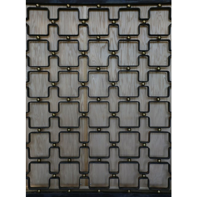 Iron & Brass Architectural Screens - a Pair For Sale - Image 4 of 7